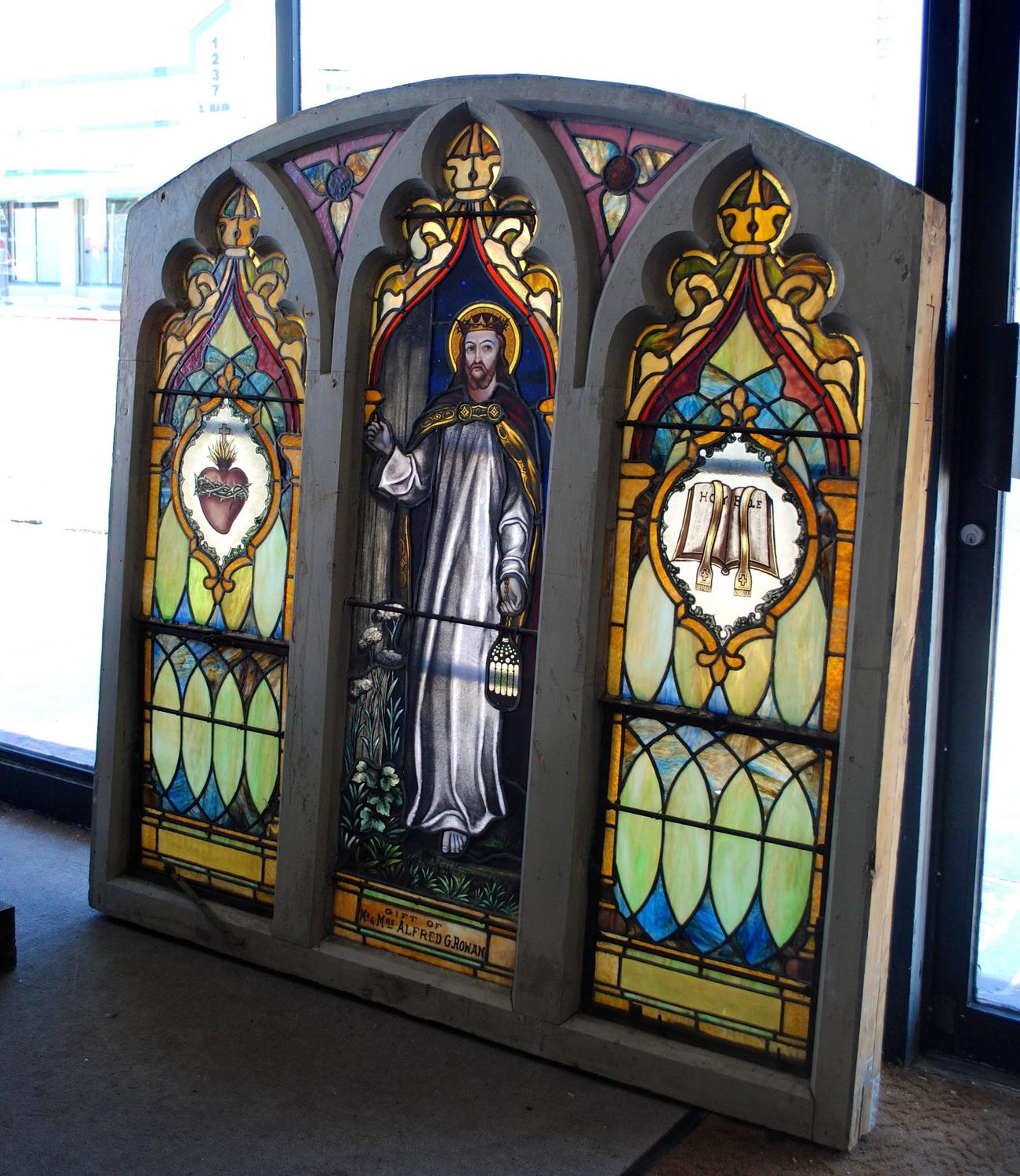 Vintage Stained Glass Church Window For Sale At 1stdibs