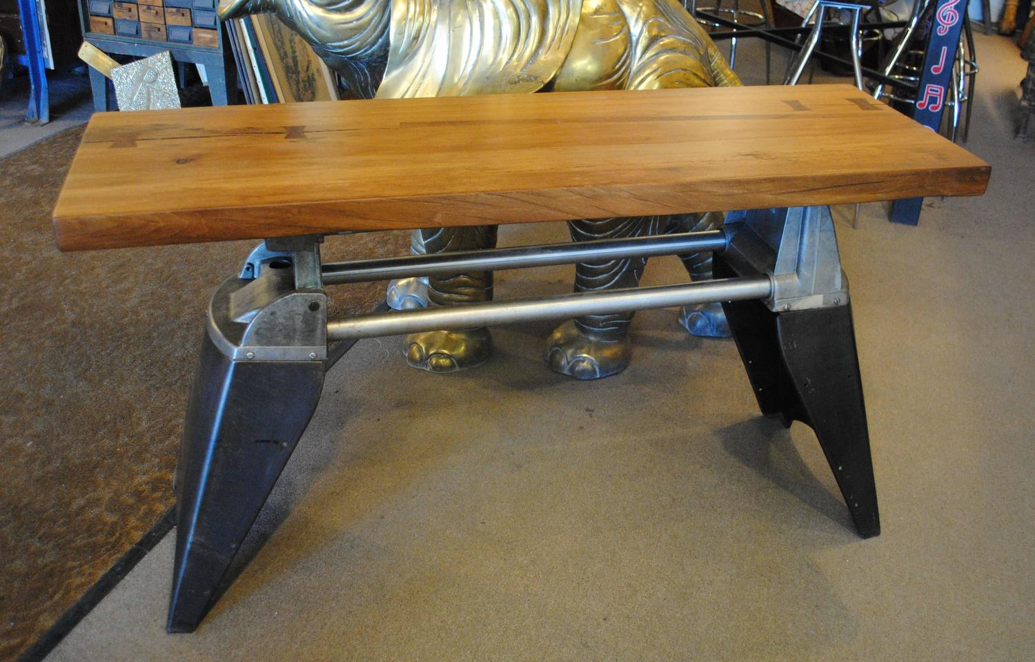 Industrial console table for sale at 1stdibs for Z furniture las vegas