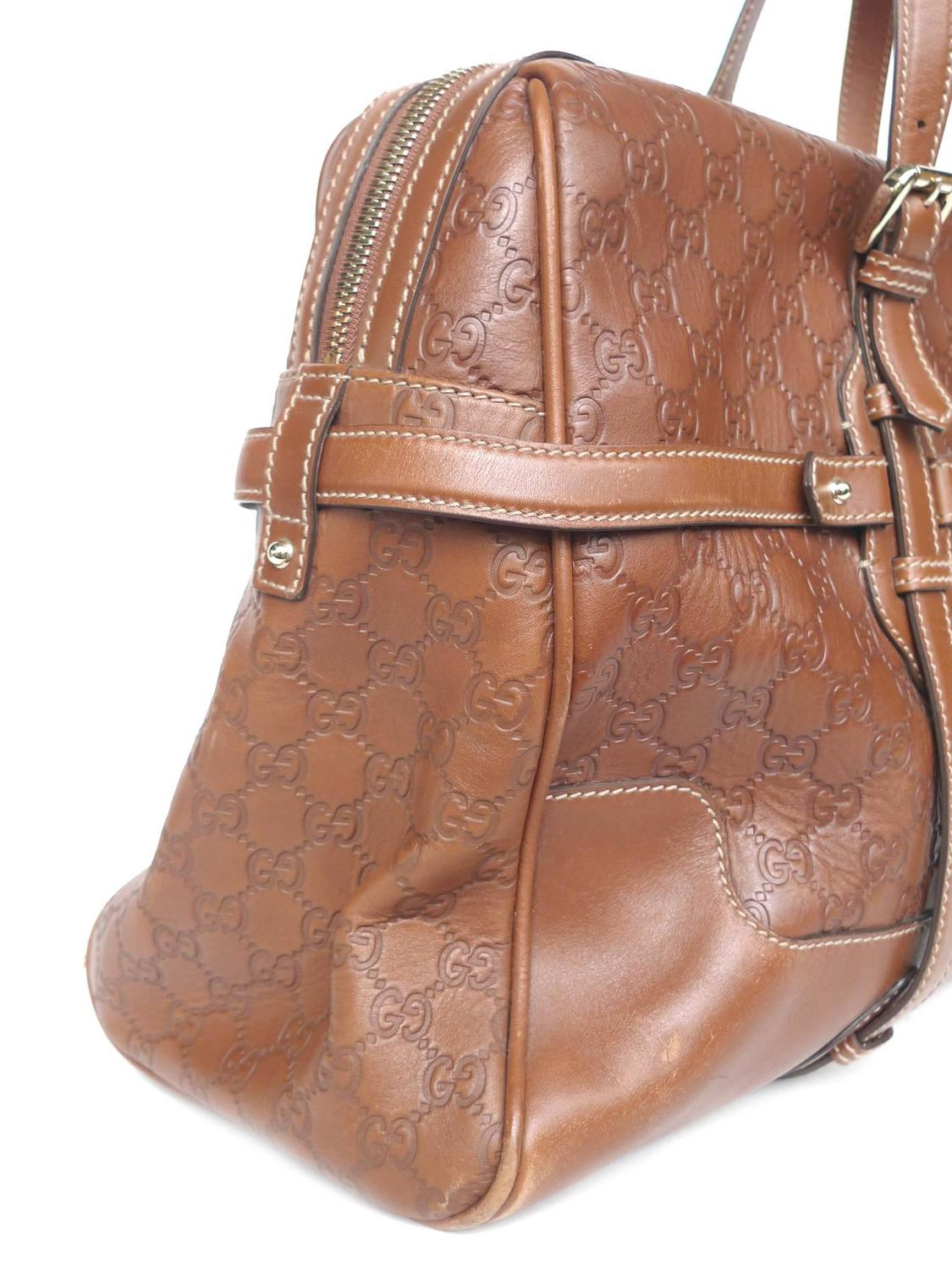 c1e667418ef Gucci 85th Anniversary Brown Leather Horsebit Travel Bag For Sale at 1stdibs