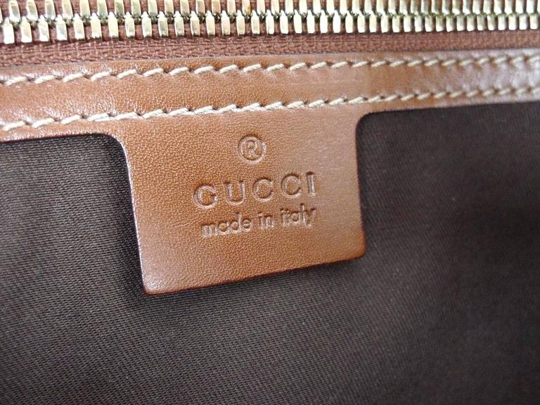 8ac008c2406 Gucci 85th Anniversary Brown Leather Horsebit Travel Bag For Sale at ...