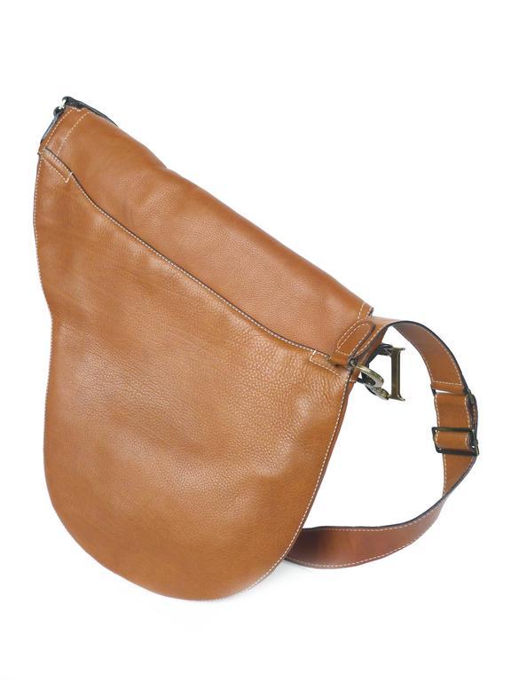 c84163b30 Christian Dior Tan Leather Saddle Bag For Sale at 1stdibs