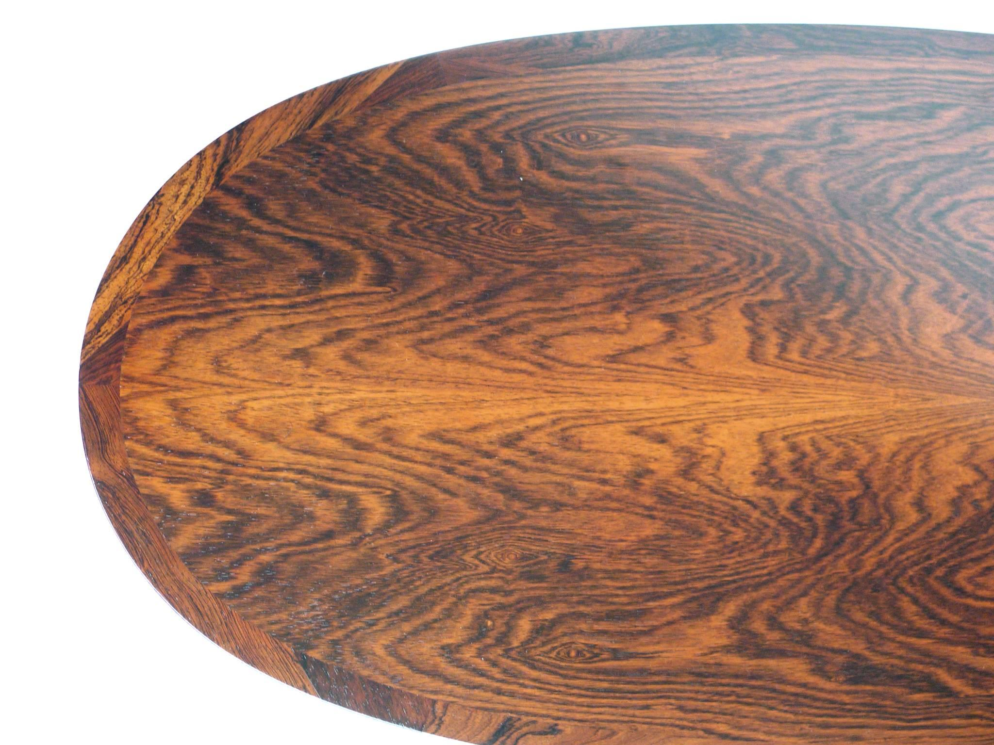 Mid Century Oval Rosewood Coffee Table In The Style Of Brode Blindheim At 1stdibs