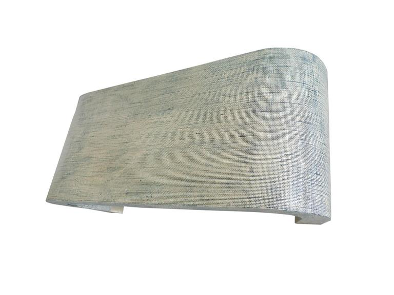 Midcentury Karl Springer Style Linen Wrapped Coffee Table 3