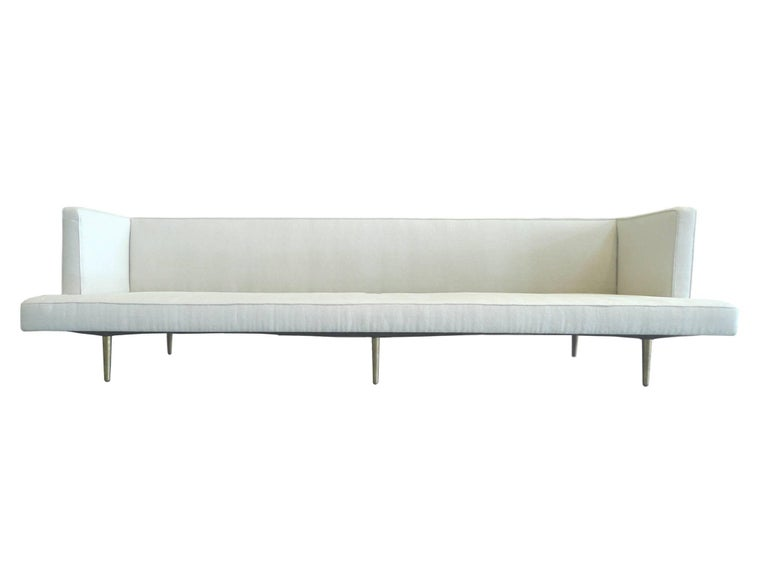 Brass Mid-Century Modern Dunbar Sofa by Edward Wormley For Sale