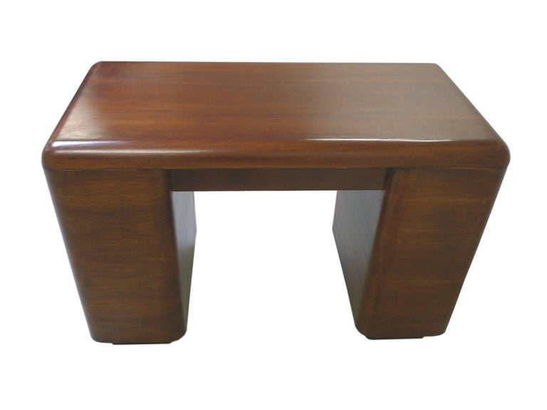 Paul Goldman 1940s Art Deco Rosewood Veneer Desk In Good Condition For Sale In New York, NY