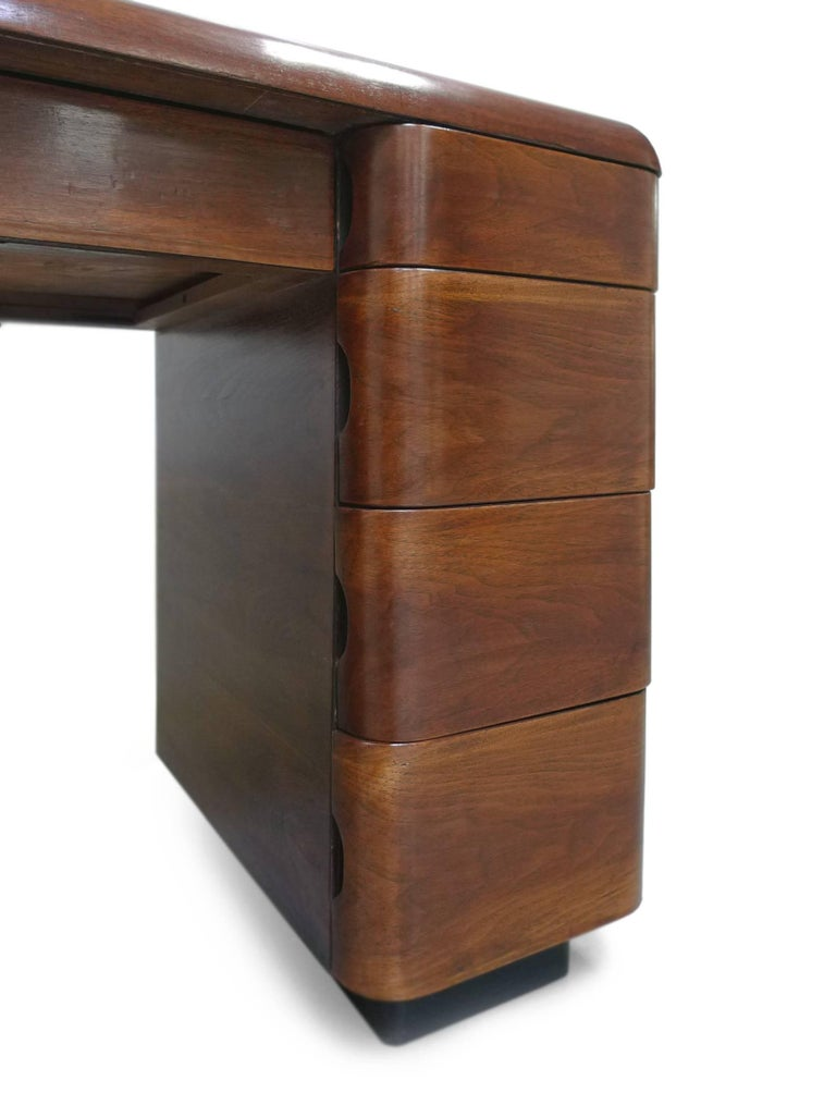 Paul Goldman 1940s Art Deco Rosewood Veneer Desk For Sale 1