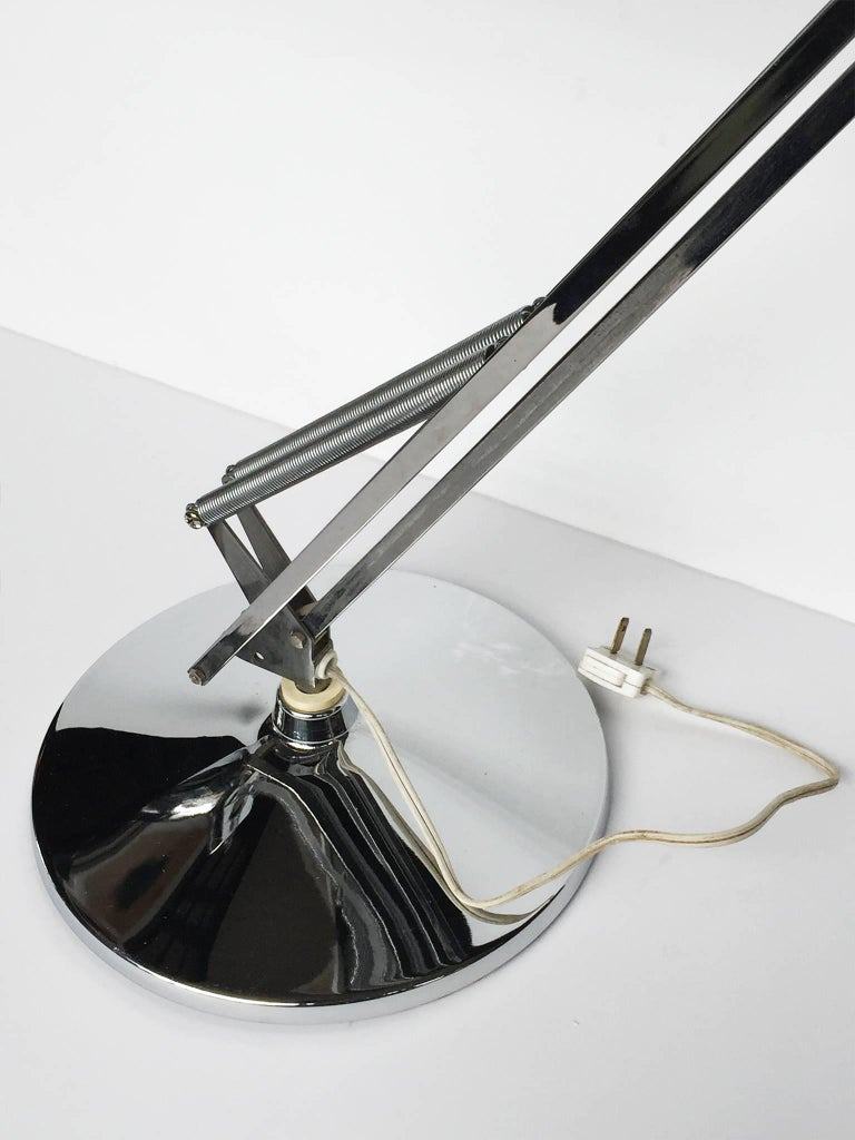 20th Century Luxo Articulated Chrome Desk Lamp For 3