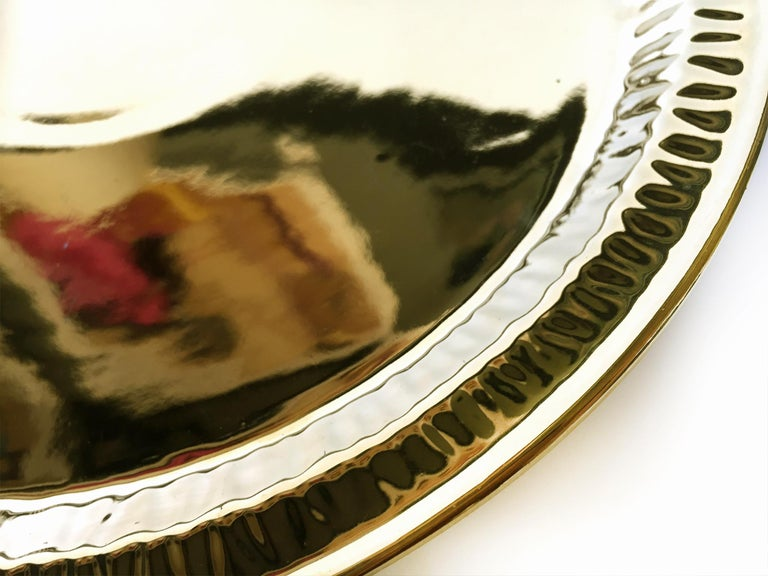 Contemporary Seletti Gold Porcelain Plates Estetico Quotidiano Collection, a Set of 8 For Sale