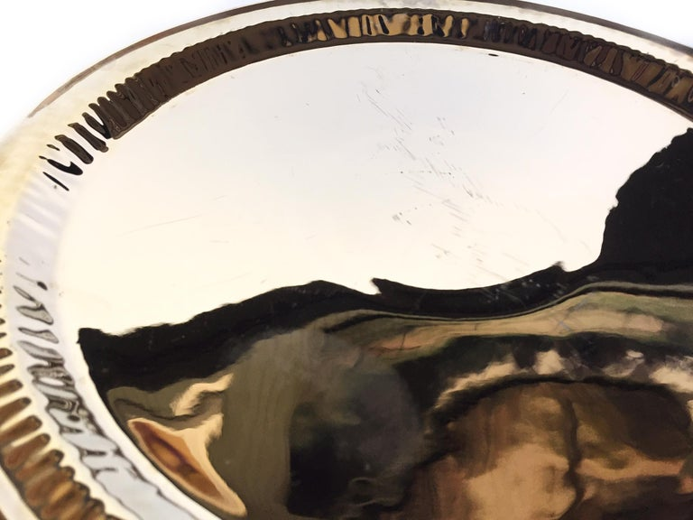 Seletti Gold Porcelain Plates Estetico Quotidiano Collection, a Set of 8 For Sale 2