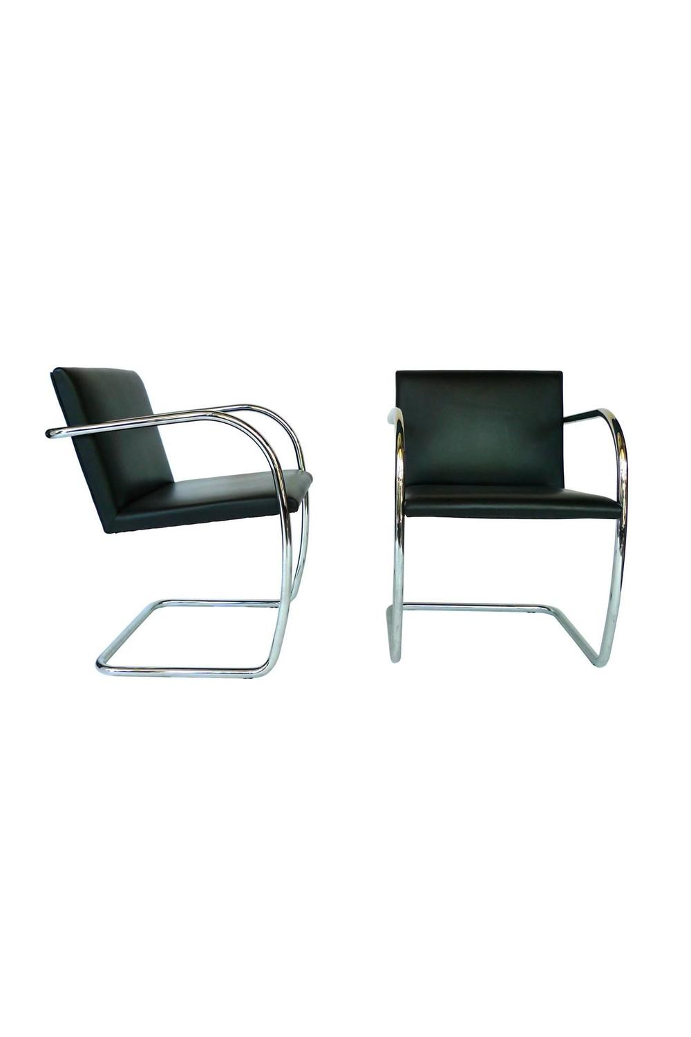 pair of mies van der rohe brno chairs at 1stdibs. Black Bedroom Furniture Sets. Home Design Ideas