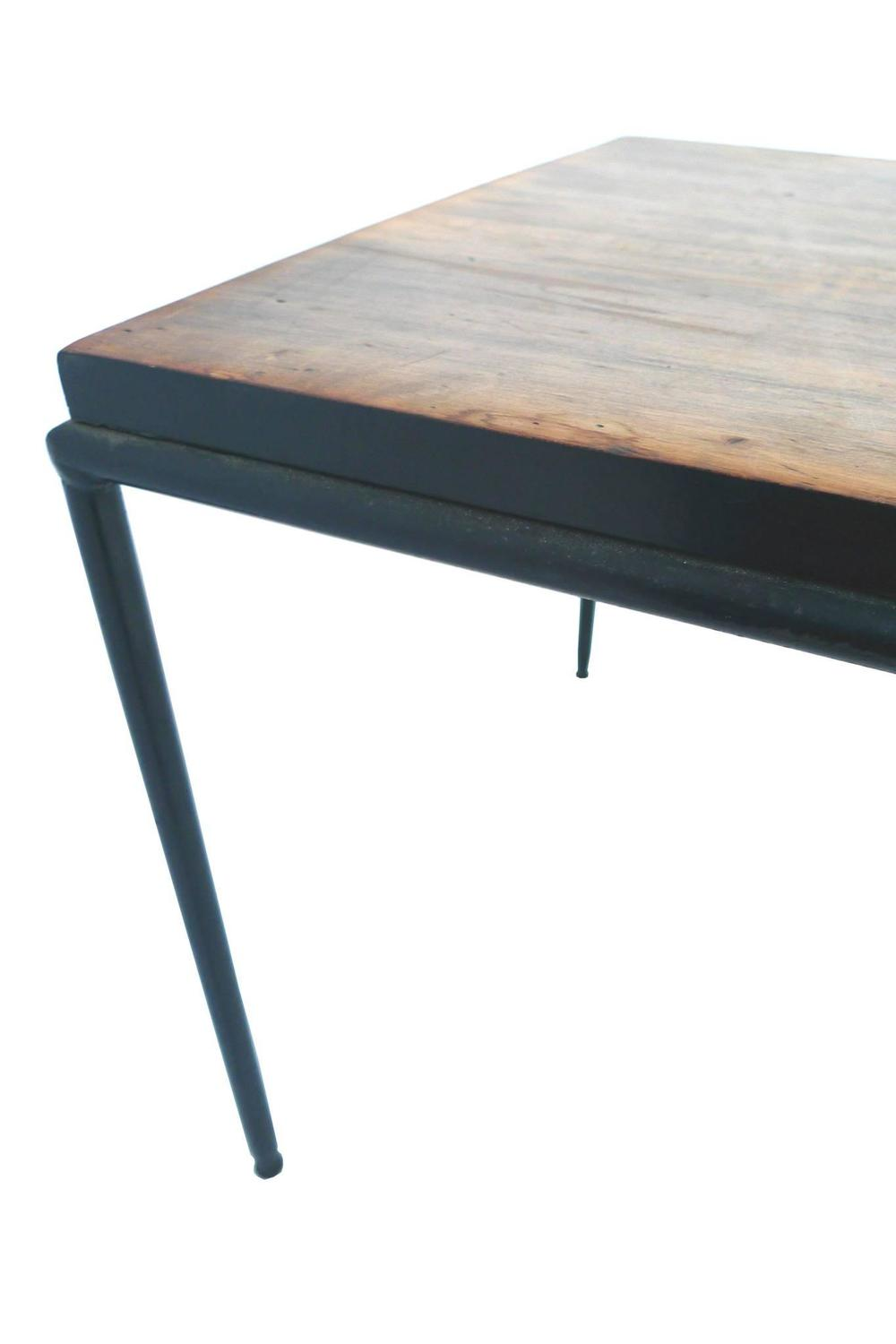 Paul Mccobb Wrought Iron And Teak Coffee Table At 1stdibs