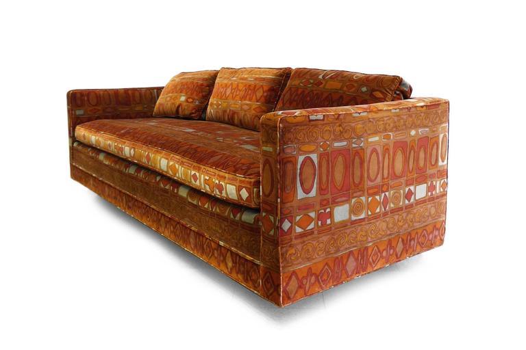 midcentury dunbar attributed sofa in jack lenor larsen. Black Bedroom Furniture Sets. Home Design Ideas