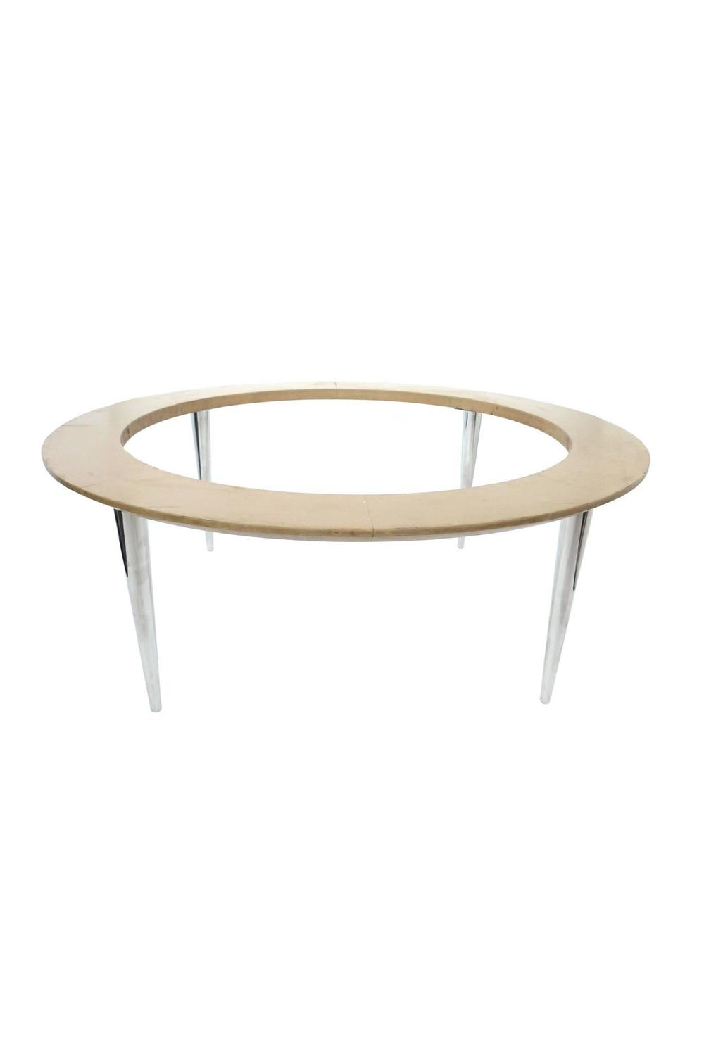 Midcentury Weiman Round Travertine Cocktail Table For Sale At 1stdibs