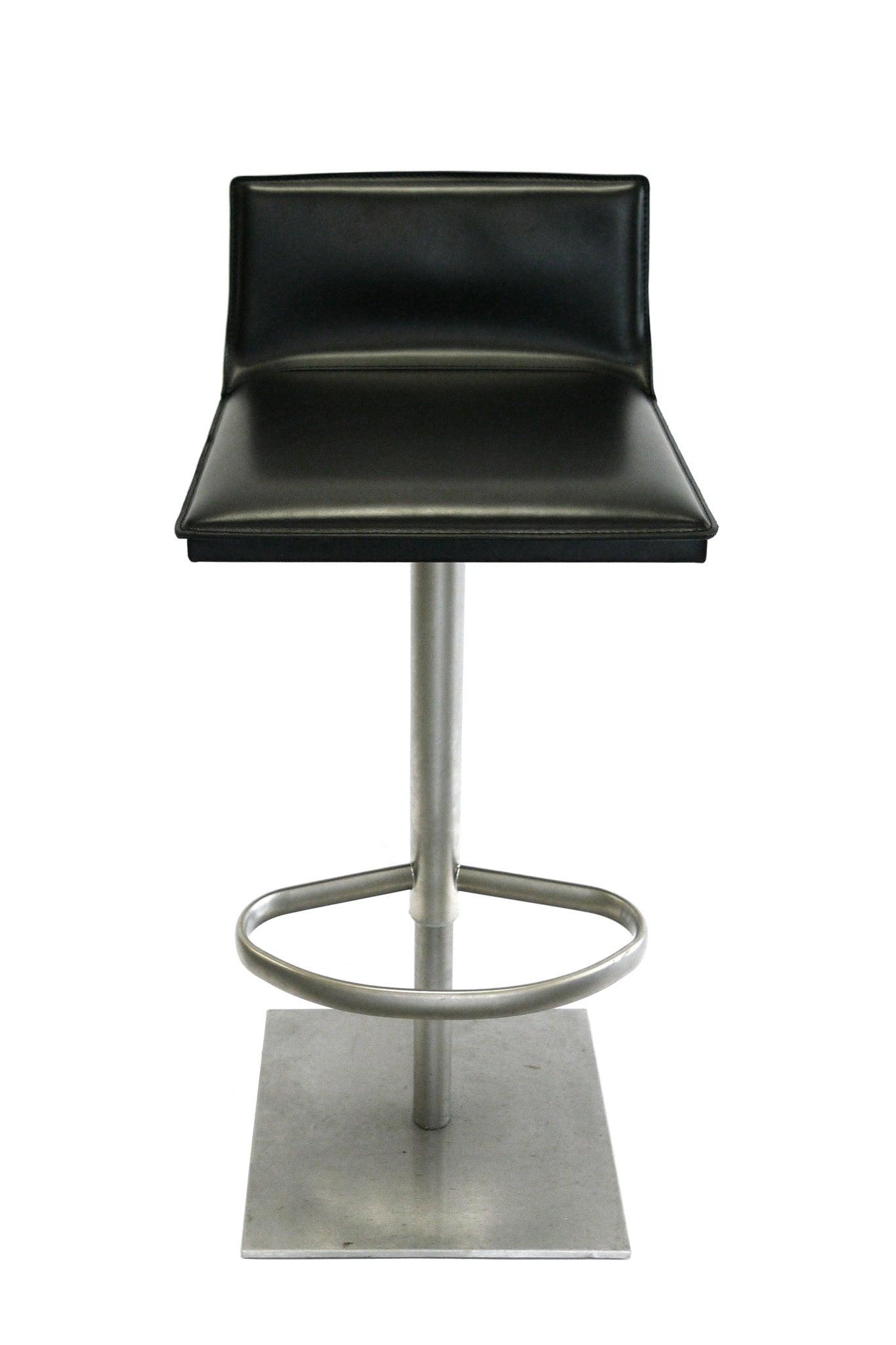 Peachy Italian Leather And Steel Height Adjustable Bar Stool By Camellatalisay Diy Chair Ideas Camellatalisaycom