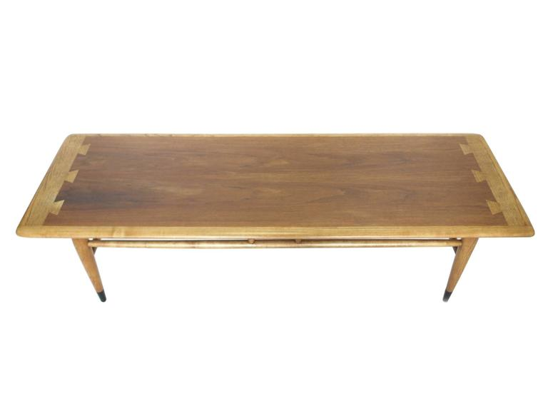 Mid Century Ash And Walnut Coffee Table By Lane At 1stdibs