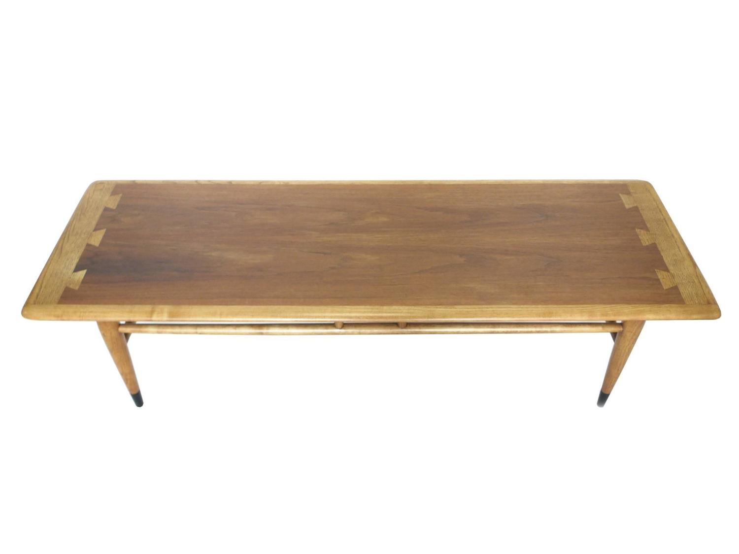 Mid Century Ash And Walnut Coffee Table By Lane For Sale At 1stdibs