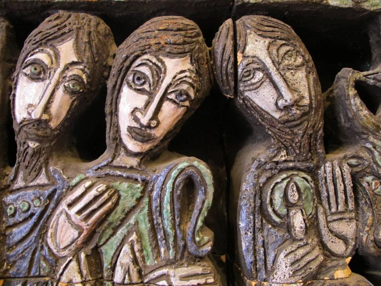 """French Ceramic Sculpture """"Nativite"""" by the Artist Bernard Marliengas For Sale"""