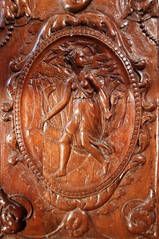 henri iv 16th century walnut cabinet with marble inlays for sale at 1stdibs