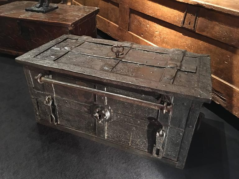 17th Century German Iron Armada Chest For Sale At 1stdibs