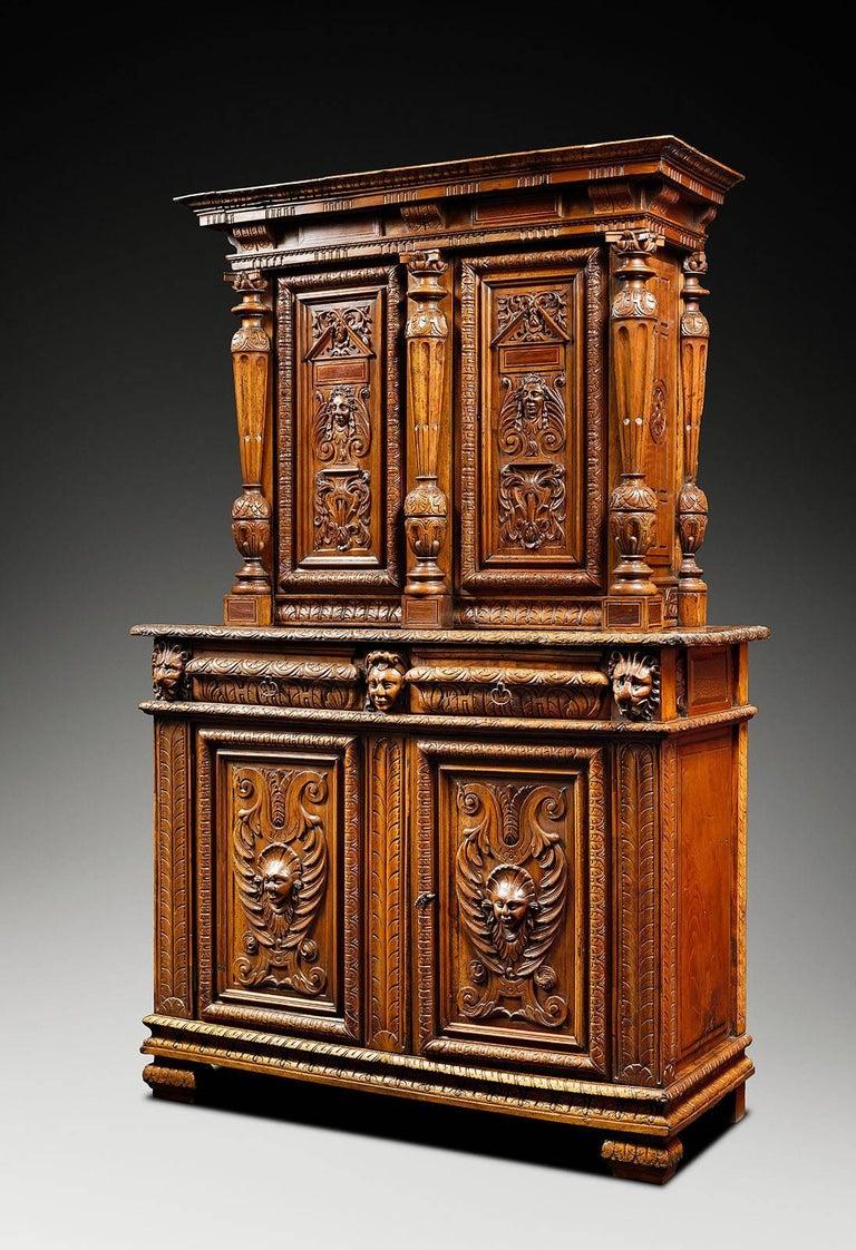 Bellifontain Inspired Renaissance Light Walnut Cabinet For Sale At 1stdibs