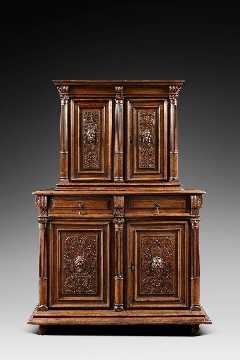 16th century french renaissance 39 meuble deux corps 39 for sale at 1stdibs. Black Bedroom Furniture Sets. Home Design Ideas