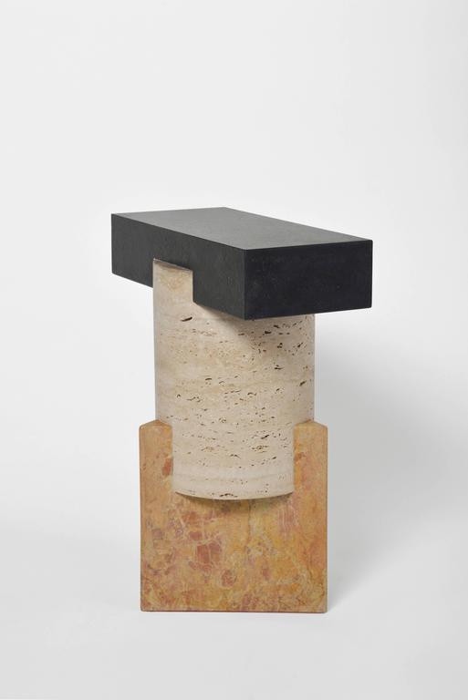 Kapitalis a series of limited edition tables and stools based on essential forms, reminiscent of primordial stone capitals and simple geometric assemblages commonly found in classical architecture. The distinct and characteristic profiles,