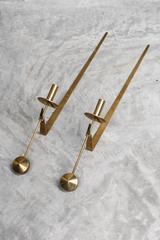 """Pair of Brass """"Skultana"""" Pendel Candleholders 1960s"""