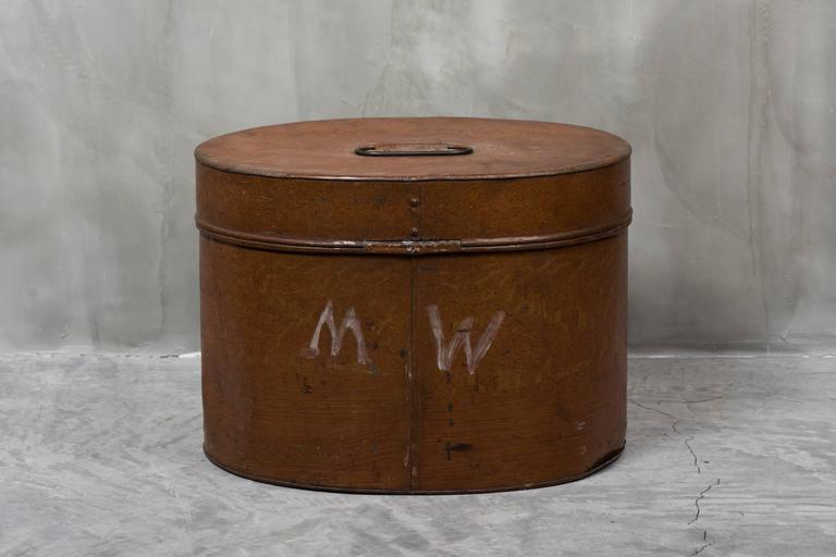 tin furniture. late 19th century english tin hat box 2 furniture
