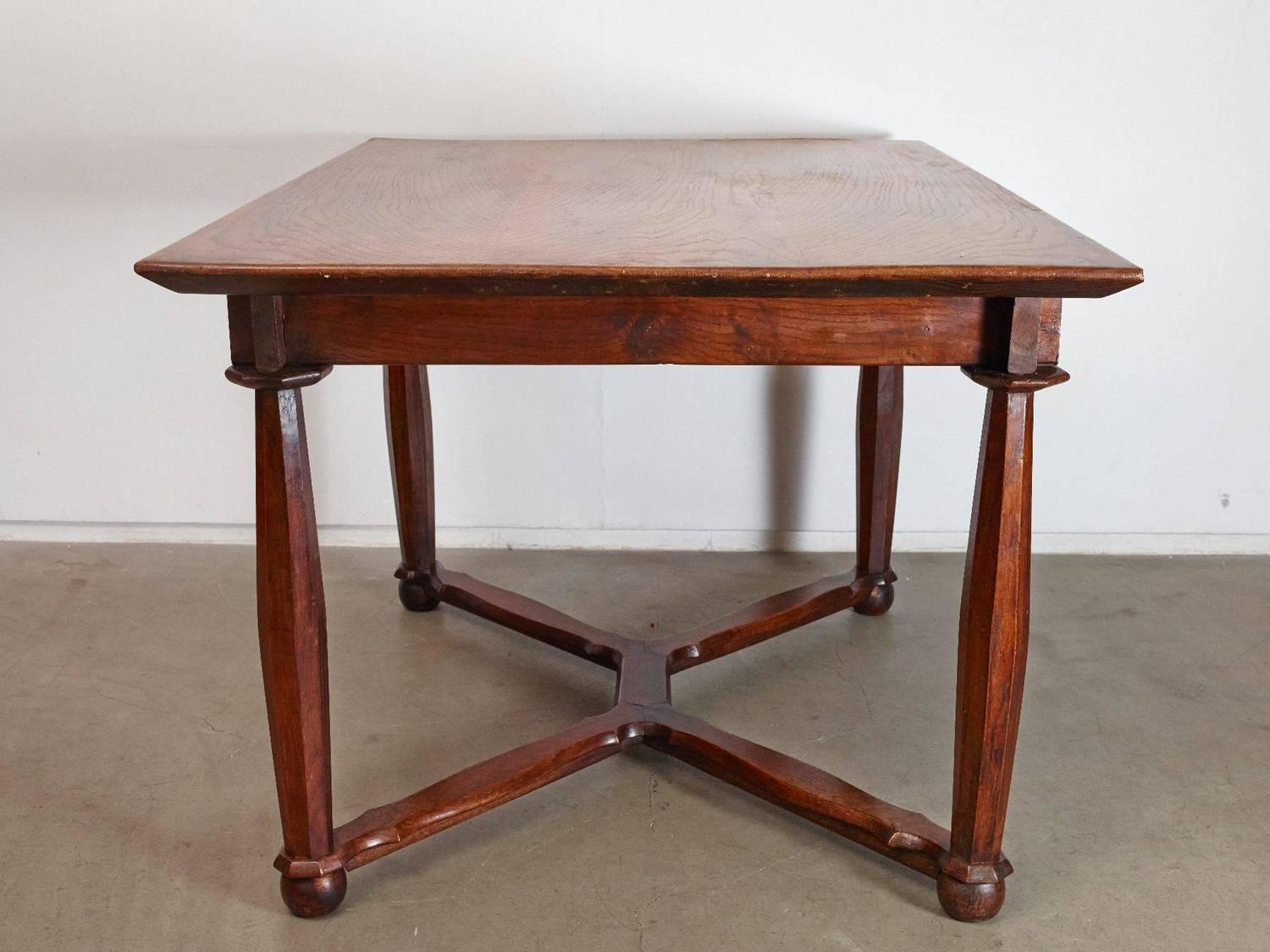 19th century oak hall or dining table for sale at 1stdibs for Dining hall furniture