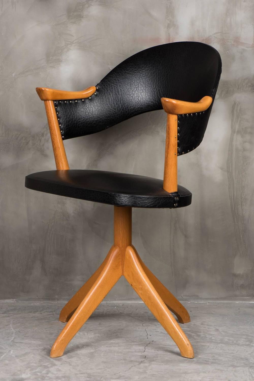 Vintage Swivel Desk Chair Sweden For Sale at 1stdibs