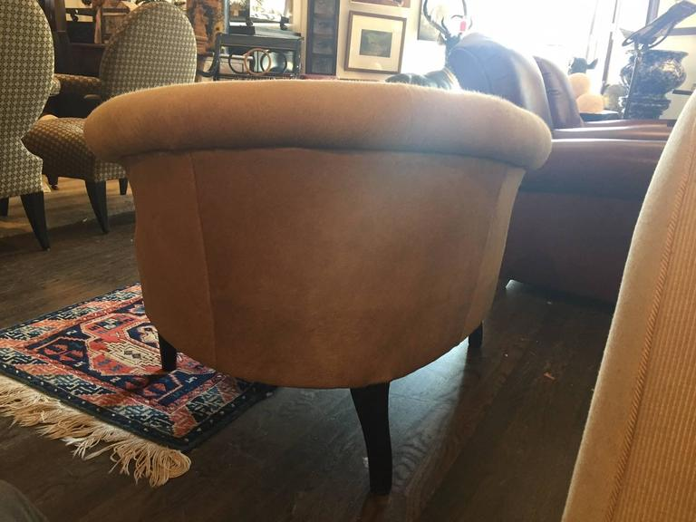 Pony hair free form chair at 1stdibs for Chaises longues tressees