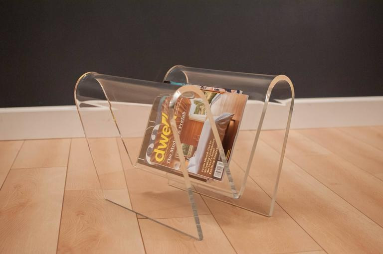 Vintage Lucite Magazine Rack At 40stdibs Enchanting Lucite Magazine Holder