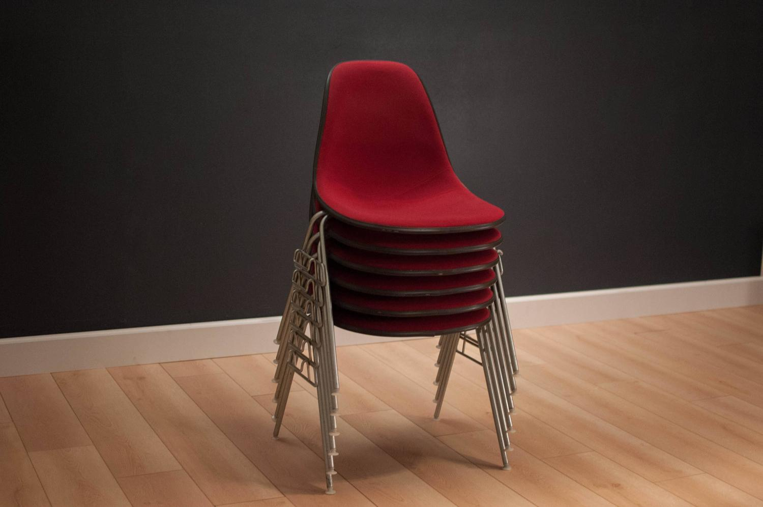 vintage herman miller eames stacking chairs for sale at 1stdibs