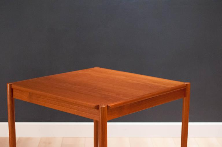 Vintage Danish Teak and Leather Flip Top Dining Table 1