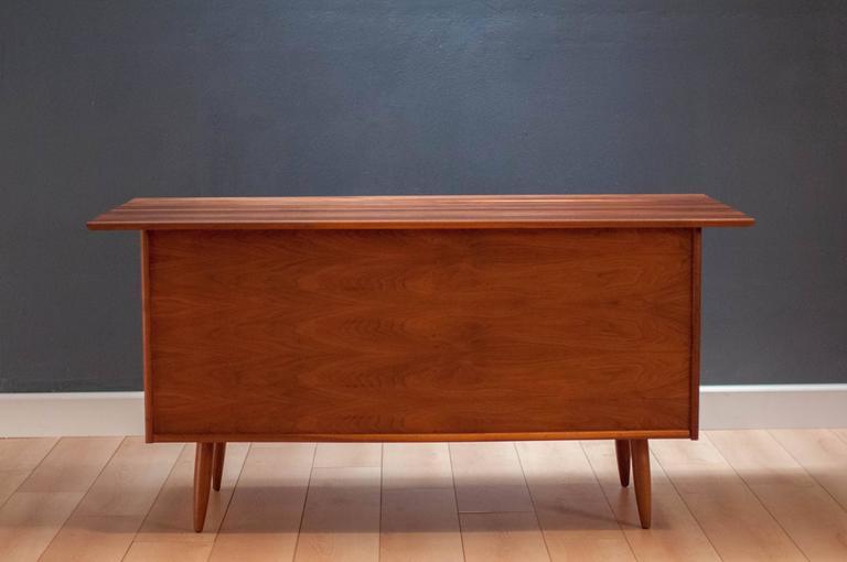 Mid century solid walnut ace hi desk at 1stdibs for Mid century modern furniture hawaii
