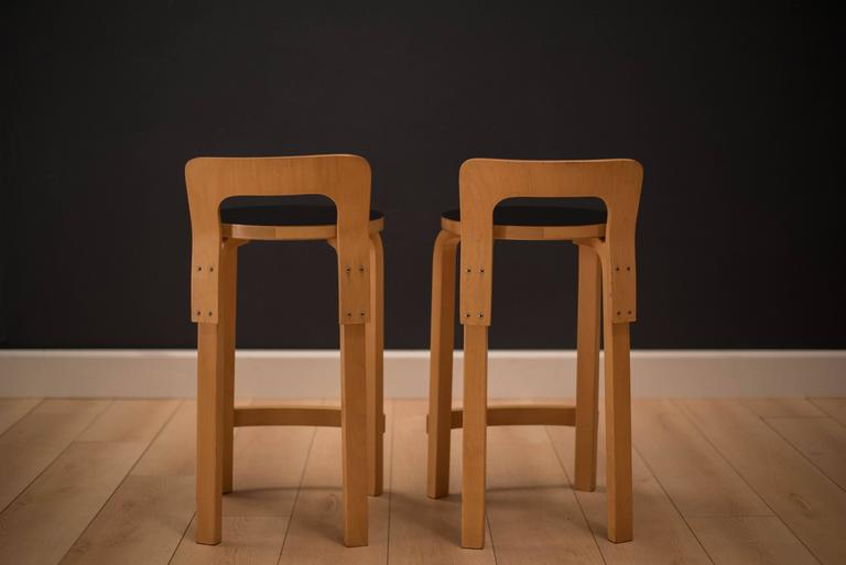 Vintage Alvar Aalto K65 High Chair Stool At 1stdibs