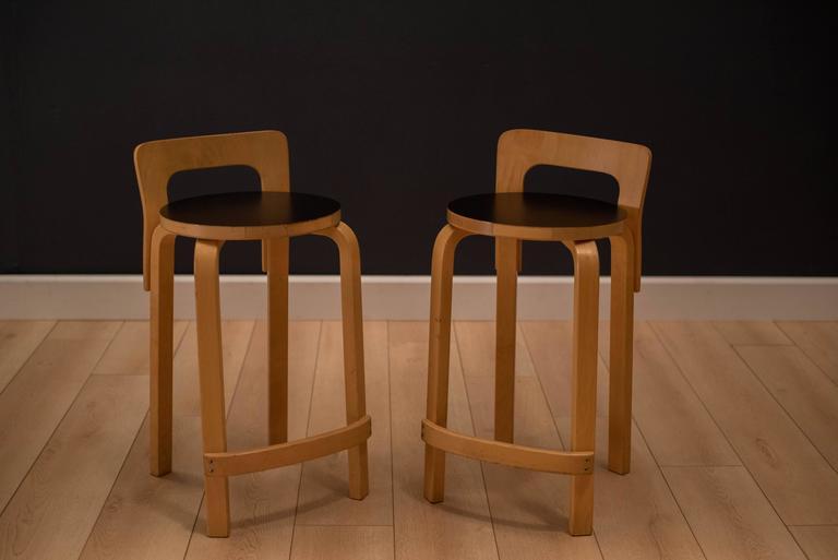 Vintage Alvar Aalto K65 High Chair Stool At 1stdibs