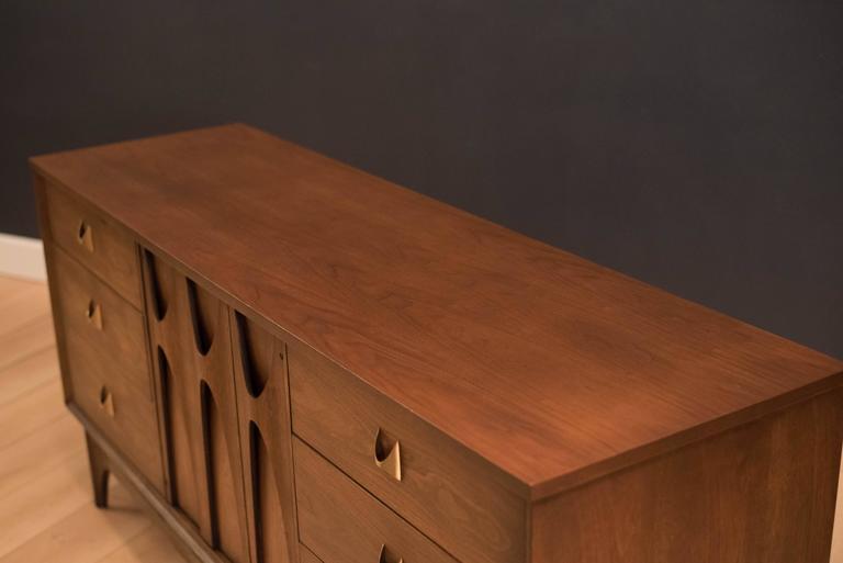 Mid-Century Broyhill Brasilia Triple Dresser In Good Condition For Sale In San Jose, CA