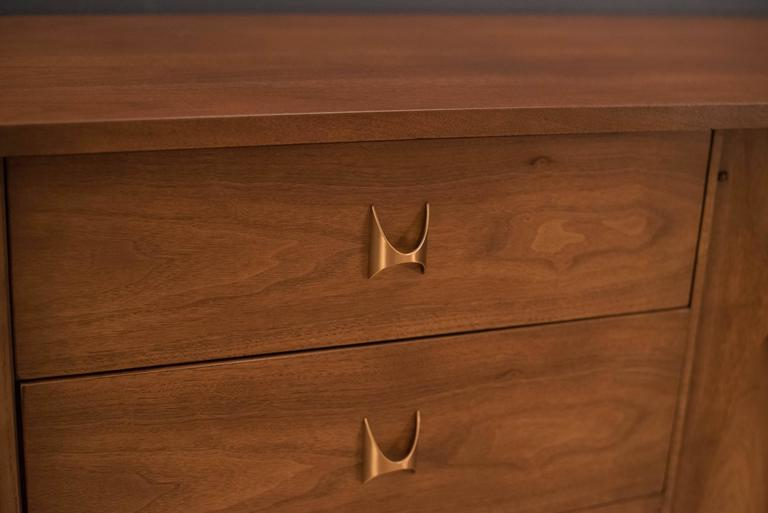 American Mid-Century Broyhill Brasilia Triple Dresser For Sale