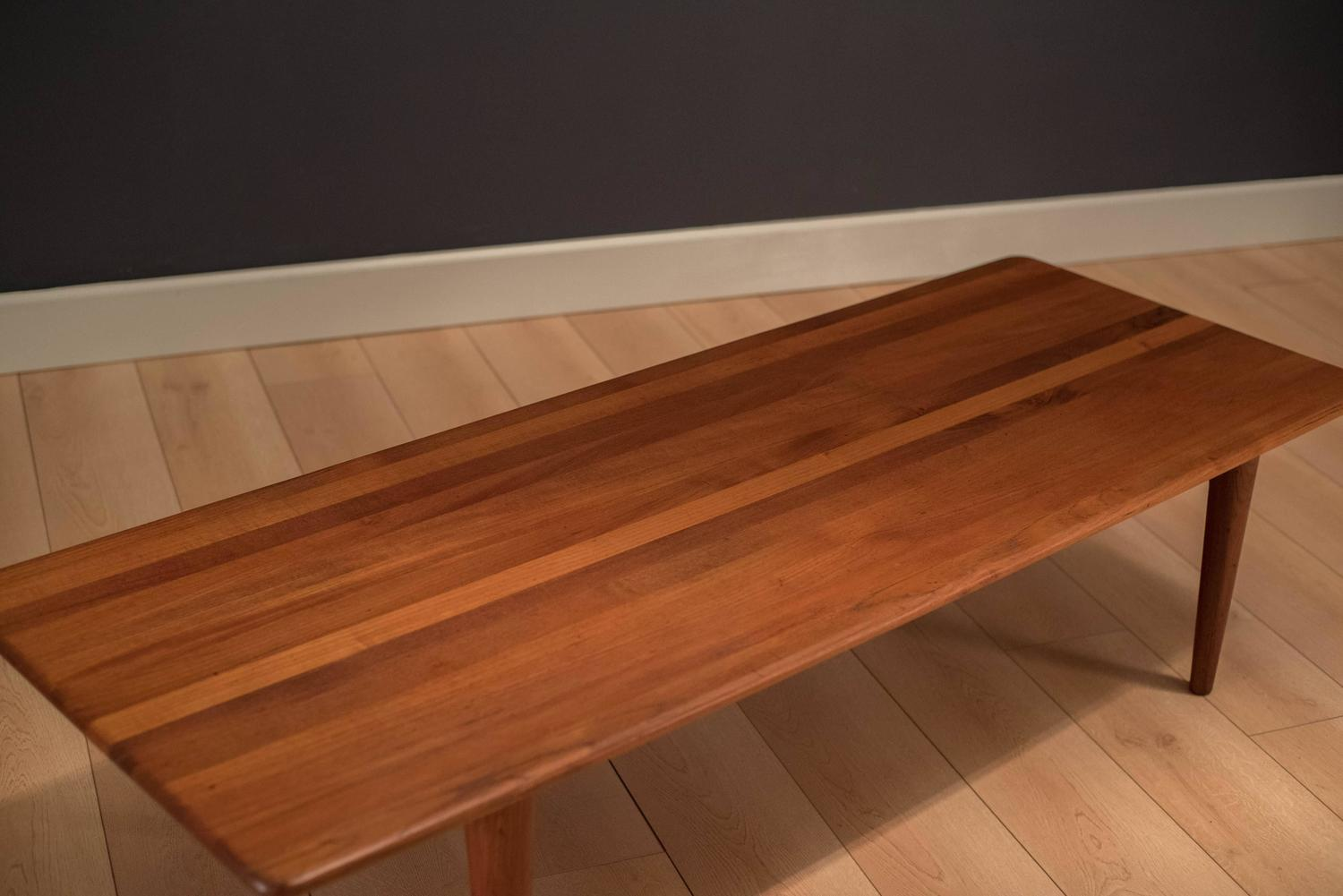 Mid Century Solid Teak Coffee Table For Sale At 1stdibs