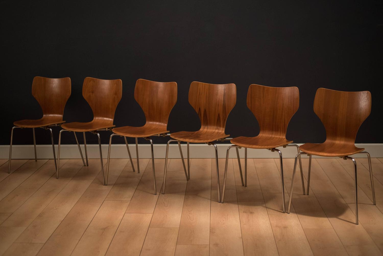 danish teak stacking dining chairs at 1stdibs