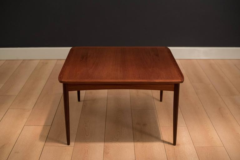 Vintage Danish Teak Sculpted Coffee Table At 1stdibs