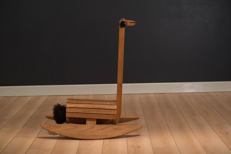 Vintage Ostrich Rocking Chair Toy At 1stdibs
