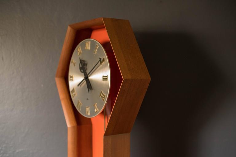 vintage arthur umanoff pendulum clock for howard miller