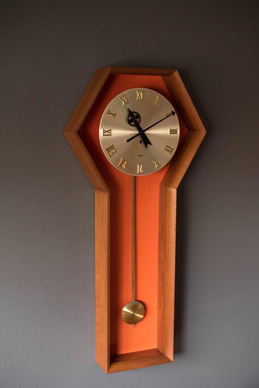 vintage arthur umanoff pendulum clock for howard miller 2 - Howard Miller Wall Clock
