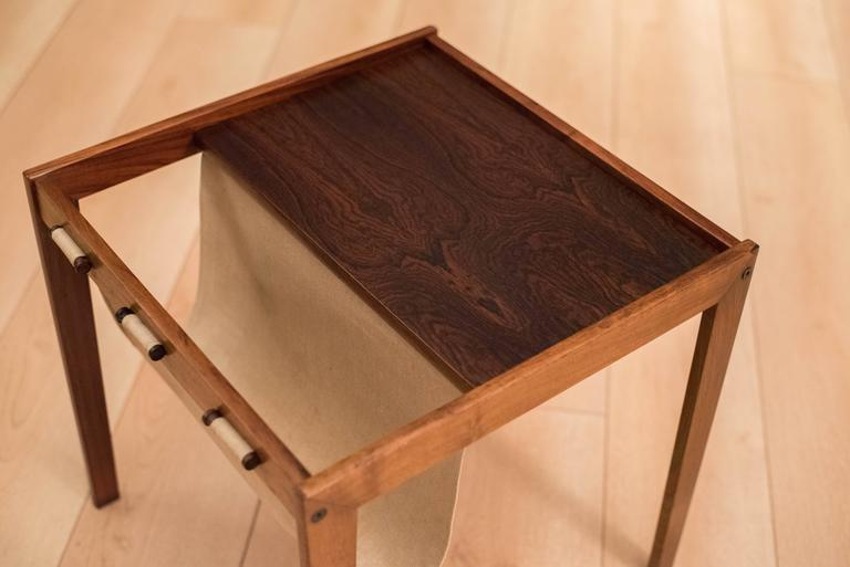 Vintage Danish Rosewood Magazine End Table 3