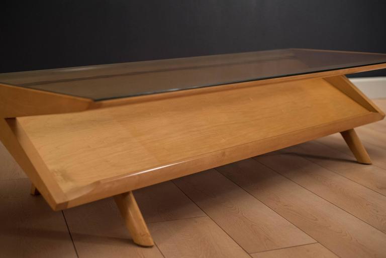Mid Century Modern Brown Saltman Gl Coffee Table By John Keal For