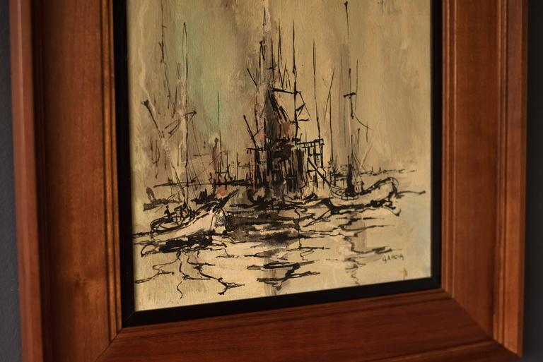 American Mid Century Danny Garcia Abstract Painting For Sale