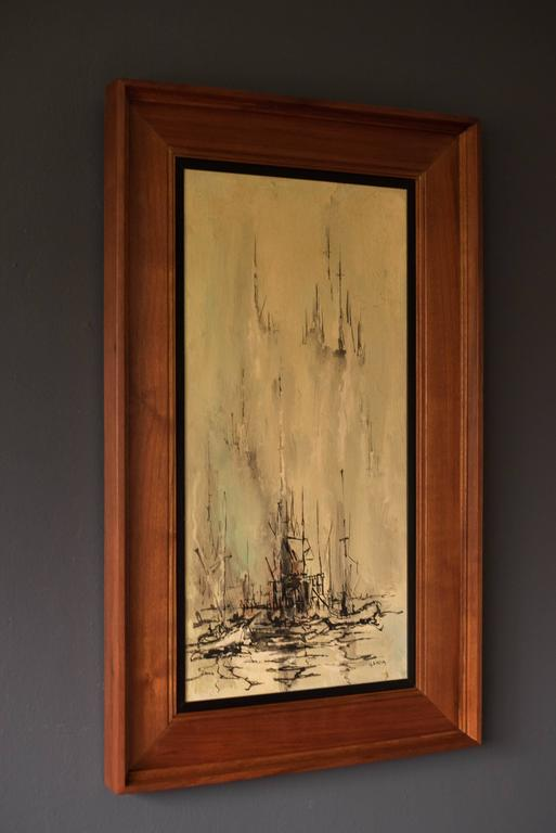 Mid-Century Modern Mid Century Danny Garcia Abstract Painting For Sale