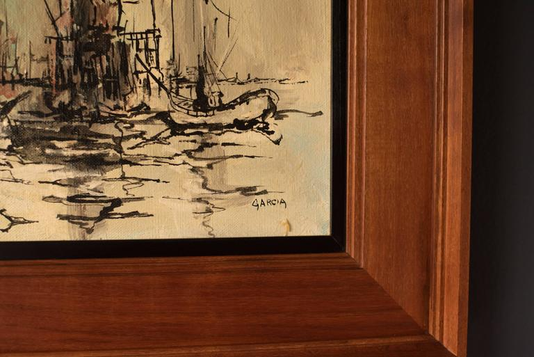 Mid-20th Century Mid Century Danny Garcia Abstract Painting For Sale